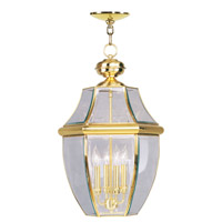 Livex 2357-02 Monterey 4 Light 16 inch Polished Brass Outdoor Hanging Lantern