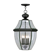 Livex Lighting Monterey 4 Light Outdoor Hanging Lantern in Black 2357-04