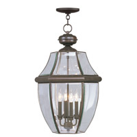 Livex Lighting Monterey 4 Light Outdoor Hanging Lantern in Bronze 2357-07