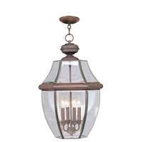 Livex Lighting Monterey 4 Light Outdoor Hanging Lantern in Imperial Bronze 2357-58