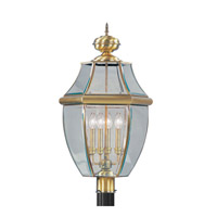 Livex Lighting Monterey 4 Light Outdoor Post Head in Antique Brass 2358-01