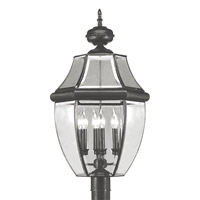 Livex Lighting Monterey 4 Light Outdoor Post Head in Black 2358-04