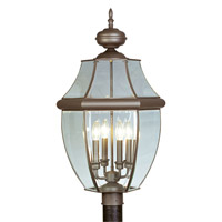 Livex Lighting Monterey 4 Light Outdoor Post Head in Bronze 2358-07