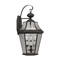 Livex Lighting Georgetown 3 Light Outdoor Wall Lantern in Bronze 2361-07 photo thumbnail