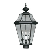 Livex Lighting Georgetown 3 Light Outdoor Post Head in Black 2364-04