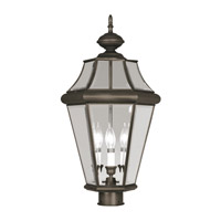 Livex Lighting Georgetown 3 Light Outdoor Post Head in Bronze 2364-07