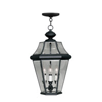 Livex Lighting Georgetown 3 Light Outdoor Hanging Lantern in Black 2365-04