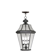 Livex Lighting Georgetown 3 Light Outdoor Hanging Lantern in Bronze 2365-07