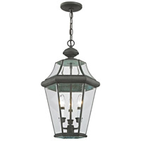 Georgetown 3 Light 13 inch Charcoal Chain Lantern