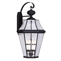 Livex 2366-04 Georgetown 4 Light 30 inch Black Outdoor Wall Lantern