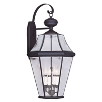 Livex Lighting Georgetown 4 Light Outdoor Wall Lantern in Bronze 2366-07