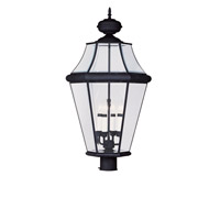 Livex Lighting Georgetown 4 Light Outdoor Post Head in Black 2368-04