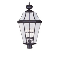 Livex Lighting Georgetown 4 Light Outdoor Post Head in Bronze 2368-07