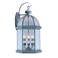 Livex Limited 3 Light Outdoor Wall Lantern in Verdigris 2371-06