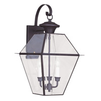Livex 2381-07 Westover 3 Light 23 inch Bronze Outdoor Wall Lantern