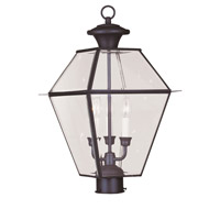 Livex Lighting Westover 3 Light Outdoor Post Head in Bronze 2384-07