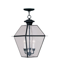 Livex 2385-04 Westover 3 Light 12 inch Black Outdoor Hanging Lantern