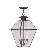 Westover 3 Light 12 inch Bronze Outdoor Hanging Lantern