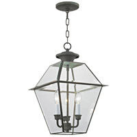Westover 3 Light 12 inch Charcoal Chain Lantern