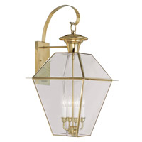 Livex Lighting Westover 4 Light Outdoor Wall Lantern in Polished Brass 2386-02
