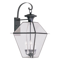 Westover 4 Light 28 inch Black Outdoor Wall Lantern