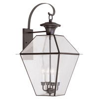 Livex Lighting Westover 4 Light Outdoor Wall Lantern in Bronze 2386-07