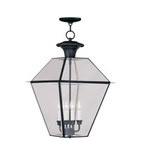 Livex Lighting Westover 4 Light Outdoor Hanging Lantern in Black 2387-04