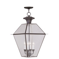 Livex Lighting Westover 4 Light Outdoor Hanging Lantern in Bronze 2387-07