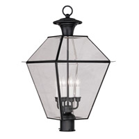 Livex Lighting Westover 4 Light Outdoor Post Head in Black 2388-04