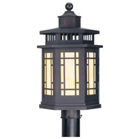Livex 2394-07 Mirror Lake 1 Light 19 inch Bronze Outdoor Post Head