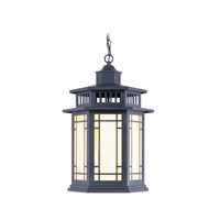 Livex Lighting Mirror Lake 1 Light Outdoor Hanging Lantern in Bronze 2397-07