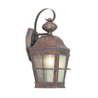 Livex Lighting Nantucket 1 Light Outdoor Wall Lantern in Burl 2415-10