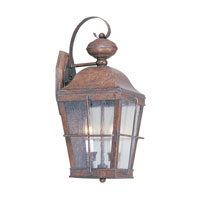 Livex Lighting Nantucket 2 Light Outdoor Wall Lantern in Burl 2416-10