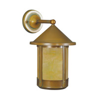 Livex Limited 1 Light Outdoor Wall Lantern in Vintage Brass 2442-93