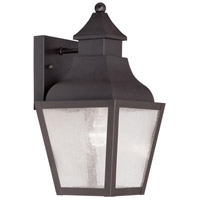 Livex 2450-07 Vernon 1 Light 13 inch Bronze Outdoor Wall Lantern