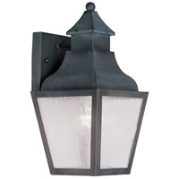 Livex Lighting Vernon 1 Light Outdoor Wall Lantern in Charcoal 2450-61