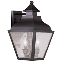 Livex Lighting Vernon 2 Light Outdoor Wall Lantern in Bronze 2451-07
