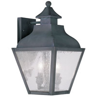 Vernon 2 Light 15 inch Charcoal Outdoor Wall Lantern