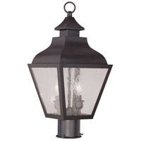Livex Lighting Vernon 2 Light Outdoor Post Head in Bronze 2452-07