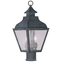 Livex 2452-61 Vernon 2 Light 19 inch Charcoal Outdoor Post Head