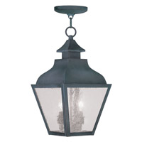 Livex Lighting Vernon 2 Light Outdoor Hanging Lantern in Charcoal 2453-61