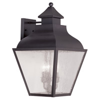 Livex Lighting Vernon 3 Light Outdoor Wall Lantern in Bronze 2454-07