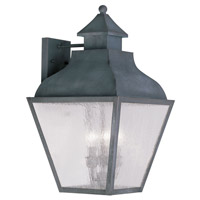 Livex Lighting Vernon 3 Light Outdoor Wall Lantern in Charcoal 2454-61