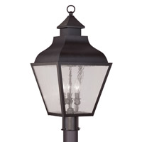 Livex Lighting Vernon 3 Light Outdoor Post Head in Bronze 2455-07
