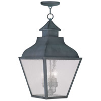 Livex Lighting Vernon 3 Light Outdoor Hanging Lantern in Charcoal 2456-61