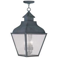 Livex 2456-61 Vernon 3 Light 12 inch Charcoal Outdoor Hanging Lantern