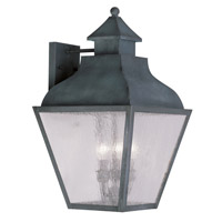 Livex Lighting Vernon 4 Light Outdoor Wall Lantern in Charcoal 2457-61