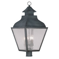 Livex Lighting Vernon 4 Light Outdoor Post Head in Charcoal 2458-61