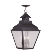 Livex Lighting Vernon 4 Light Outdoor Hanging Lantern in Bronze 2459-07