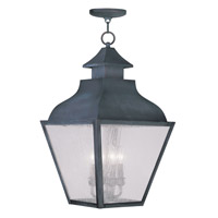 Livex Lighting Vernon 4 Light Outdoor Hanging Lantern in Charcoal 2459-61
